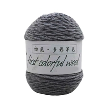 1 Roll 100g 6 Strands Worsted Colorful Wool Crochet Knitting Yarn Medium Thick for DIY Hand Sewing Sweater Hat Coat
