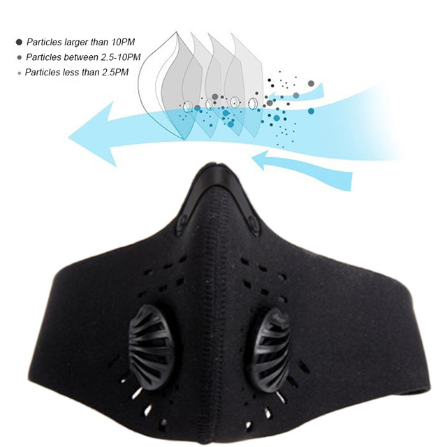 1 Pcs PM2.5 Anti-Dust Mask Anti-pollution Face Mask Activated Carbon Filter Washable mask Flu-proof Mouth Mask 4