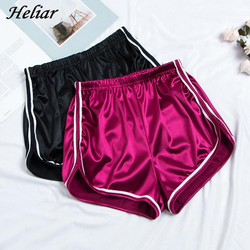 HELIAR 2019 Spring Women Shorts Femenino Bodycon Shine Through Shorts Woman Night Club Sexy Shorts Elastic Waist Skinny Shorts