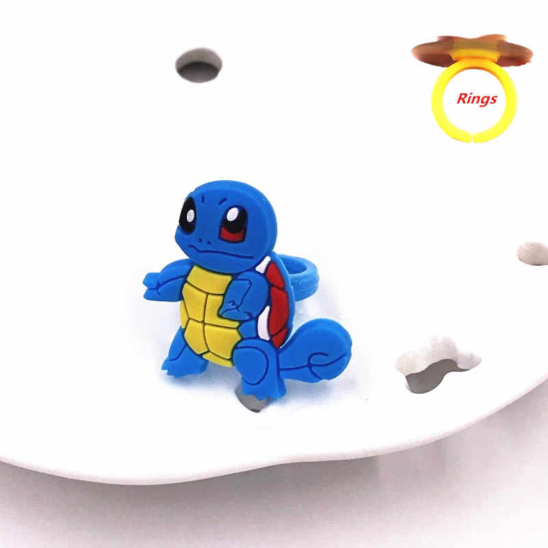 1PCS Pokemon Go Icon Animal Charmander Pikachu Jigglypuff Squirtle Cartoon Finger Rings forChildren Kids Party Christmas Gift