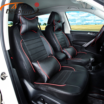 AutoDecorun PU leather car seat covers for nissan murano 2015-2017 seat cover set for cars seats accessories airbag compatible image