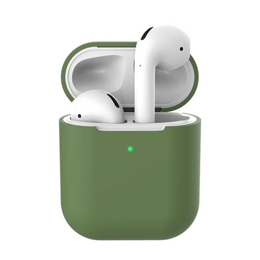 Tai nghe chụp tai dành cho Tai Nghe Apple AirPods 2 Ốp Lưng Silicon tai Nghe Không Dây Bluetooth Air Pods Túi Bảo Vệ cho AirPod Silm Ốp Lưng