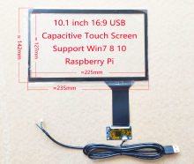 10.1 polegada 16:9 / 16:10 usb capacitivo digitador da tela de toque 10 dedos iil 2511 raspberry pi pc diy monitor toque