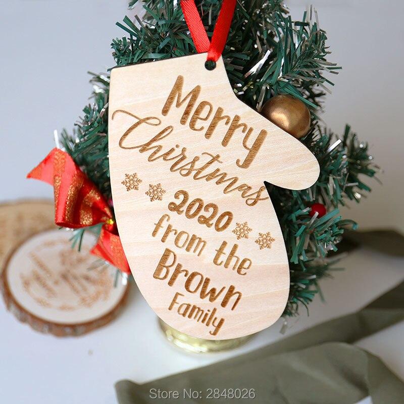 Wood Christmas Tag Gift Tags Part Decor