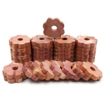 20 sztuk z drewna cedrowego blok z drewna cedrowego pierścień drewna okrągły kawałek szafa naturalny czysty środek odstraszający owady kamfora ćma piłka tanie i dobre opinie Kamfory Drewna