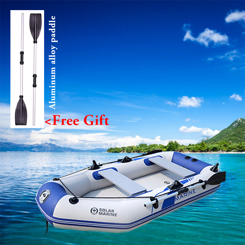 Image 3 - 175 260cm PVC Inflatable Boat Wear resistant Foldable Air Rowing  Kayak/fishing boat for 1 5 person Fishing dinghy Outdoor SportsRowing  Boats