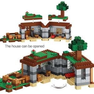 Image 5 - 408pcs 첫 번째 밤 모험 쉼터 모델 빌딩 블록 마을 Eductional 벽돌 장난감 어린이위한
