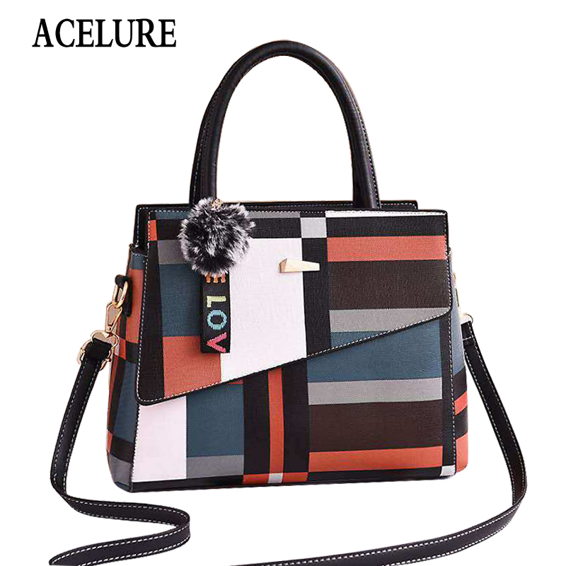 Women Handbags Famous Top-Handle Brands Women Bag Purse Messenger Shoulder Bag High Quality Ladies Feminina Luxury Pouch ACELURE