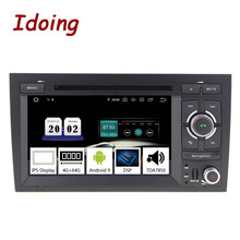 "7 Idoing ""2 din Andriod 9.0 Car DVD Player Multimedia Para Audi A4 S4 B6/B7 RS4 2002 -2008G + 64 PX5 4G Núcleo octa IPS de Navegação GPS(China)"