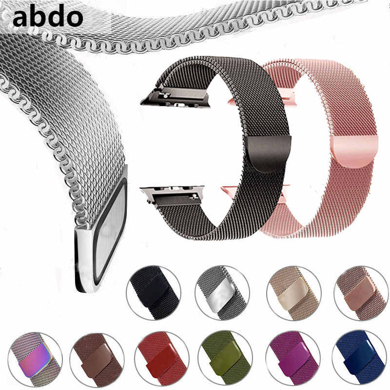 Milanese Loop Bracelet Stainless Steel band xFor Apple Watch series 1/2/3 42mm 38mm Bracelet strap for iwatch series 4 40mm 44mm