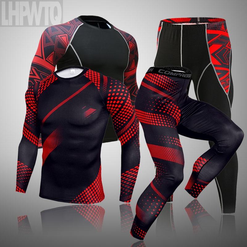 Мужское термобелье набор MMA тактика Фитнес Леггинсы база компрессионный спортивный костюм нижнее белье кальсоны мужская одежда бренд|Кальсоны|   | АлиЭкспресс