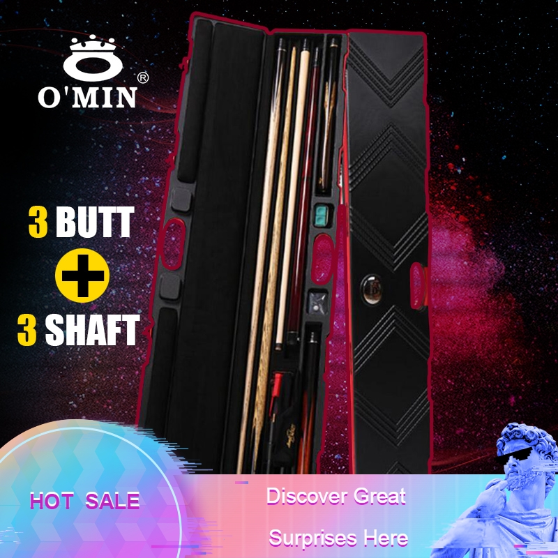 O MIN High Quality Password Rod Box Billiard 3 4 Snooker Cue Case Billiard Accessories Can