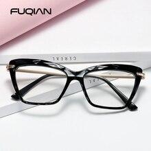Cat-Eye-Glasses-Frame Square Optical Reading Design Women Fashion Ladies Brand for FUQIAN