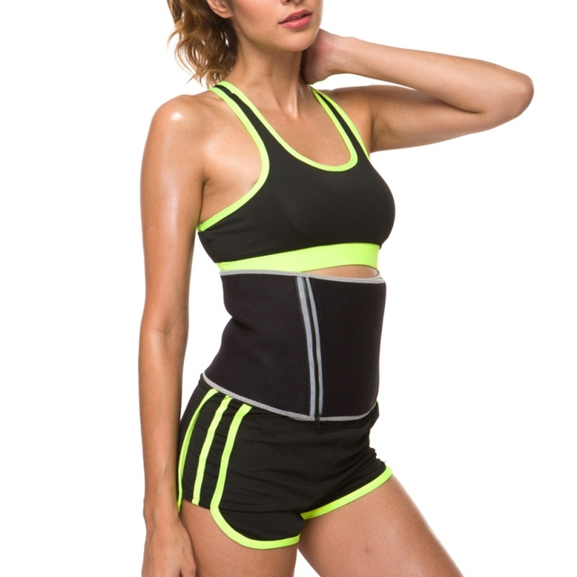 Women Beauty Waist Support Adjustable Waist Trimmer Belt Sweat Wrap Tummy Stomach Weight Loss Fat Slimming Exercise Belly Body 2