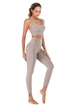 Naked-Feel Yoga Set Yoga Leggings Set Women Fitness Suit For Yoga Clothes High Waist Gym Workout Sportswear Gym Sports Clothing 7