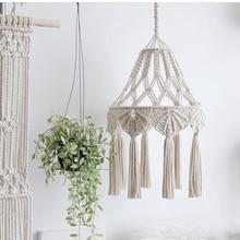 Macrame-Lamp-Decoration Wedding-Decor Bohemian Tapestry Lampshade Wall-Hanging Woven
