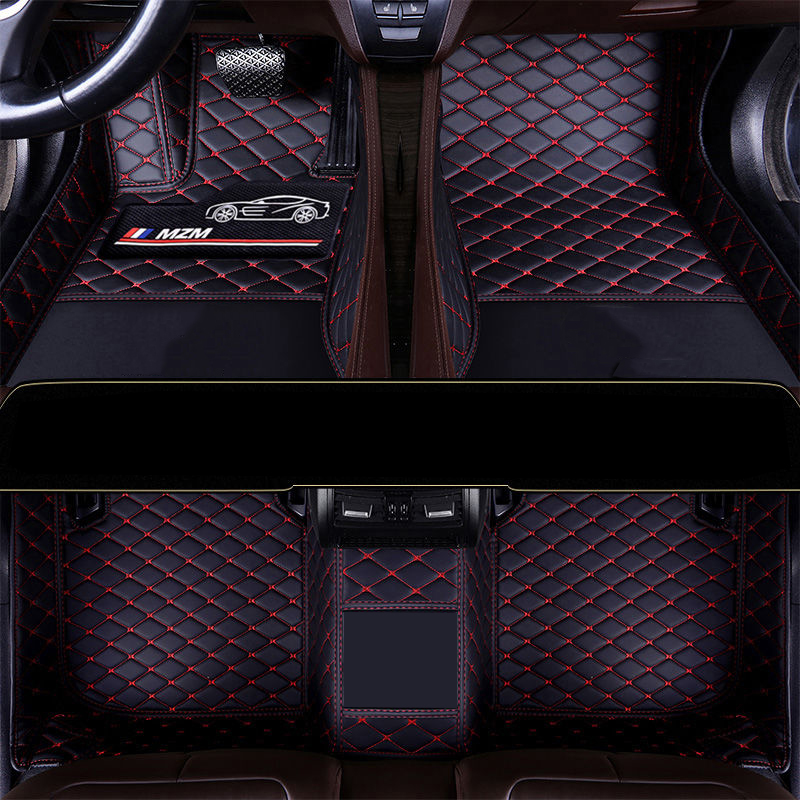 Leather car floor mat For audi a4 b8 b6 b7 avant a3 8p a5 sportback q2 q3 a7 q7 4l 100 c4 a6 4f c7 c5 rugs carpets accessories