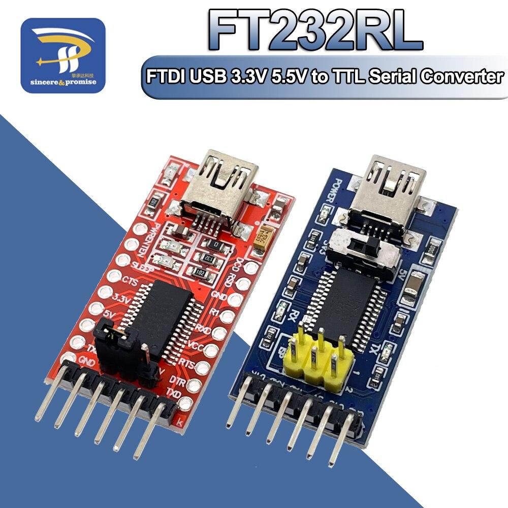 Последовательный преобразователь FT232RL FT232 FTDI 3,3 В 5,5 В, модуль адаптера, мини-порт для Arduino Pro Mini USB в TTL 232