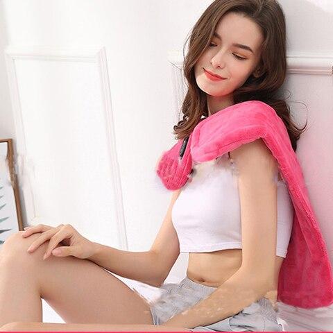 Pesco o el trico massageador u forma shiatsu massagem ombro multifuncional aquecimento massagem xale al