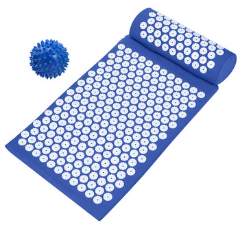 Stress Relieving Acupressure Mat with Pillow and Ball Set for Back and Neck Pain available in 4 colors