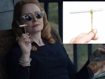 Vintage Metal Ring Cigarette Holder Finger Cigarette Rack For Women's Slim Cigarette / Man's Regular Cigarette With gift box фото