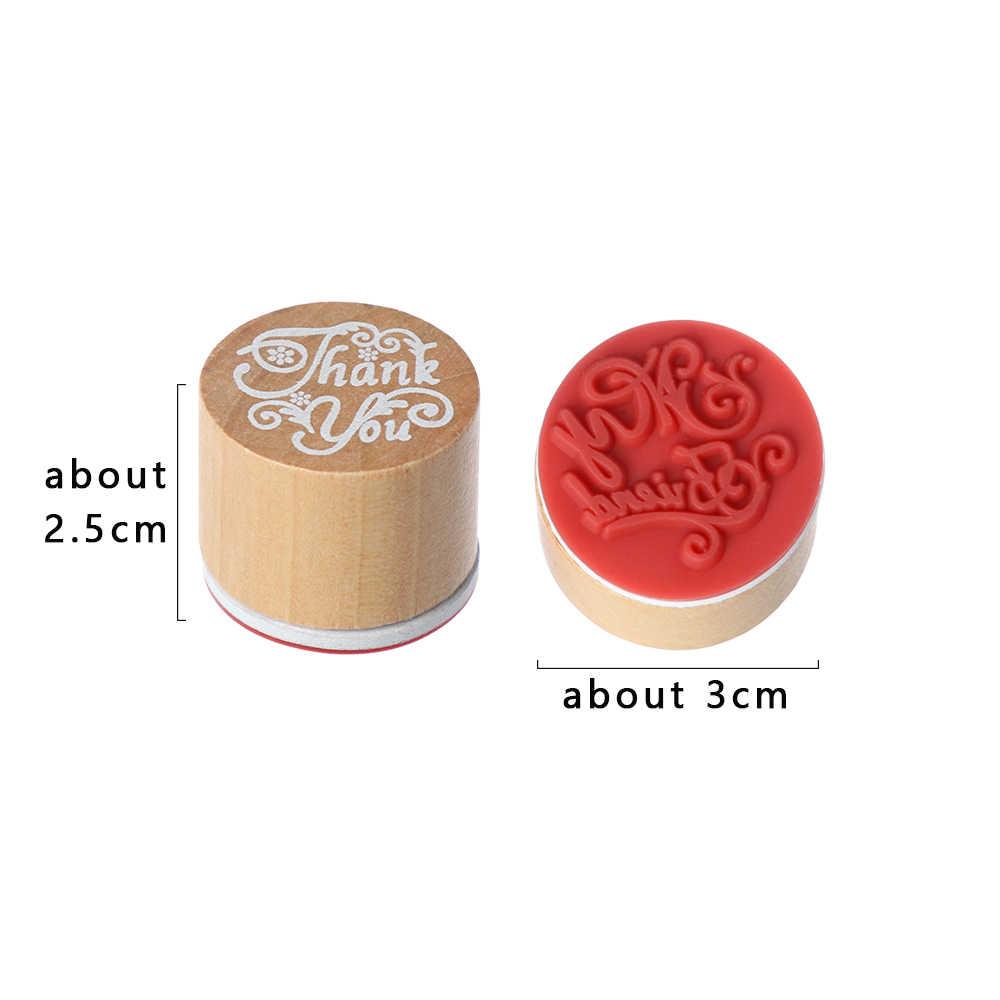 1PC Kayu Karet Stamp Terima Kasih/UNTUK ANDA Berkat Ucapan Kata Stamp DIY Scrapbook Kartu Dekorasi Buatan Tangan Seni kerajinan Surat Cap