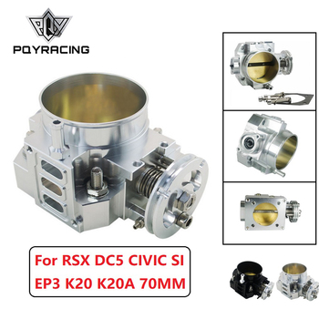 PQY - NEW THROTTLE BODY FOR RSX DC5 CIVIC SI EP3 K20 K20A 70MM CNC INTAKE THROTTLE BODY PERFORMANCE PQY6951