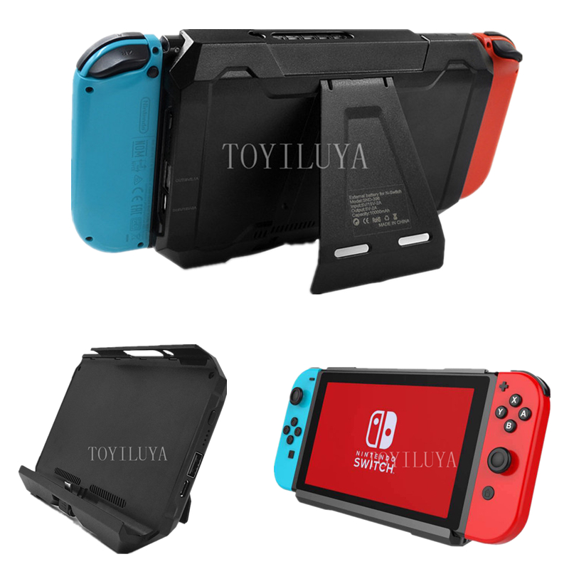 2 In 1 External Battery For Nintend Switch 10000mAH Back Battery Cover With Stand Bracket For Nintendos Switch Games Accessories