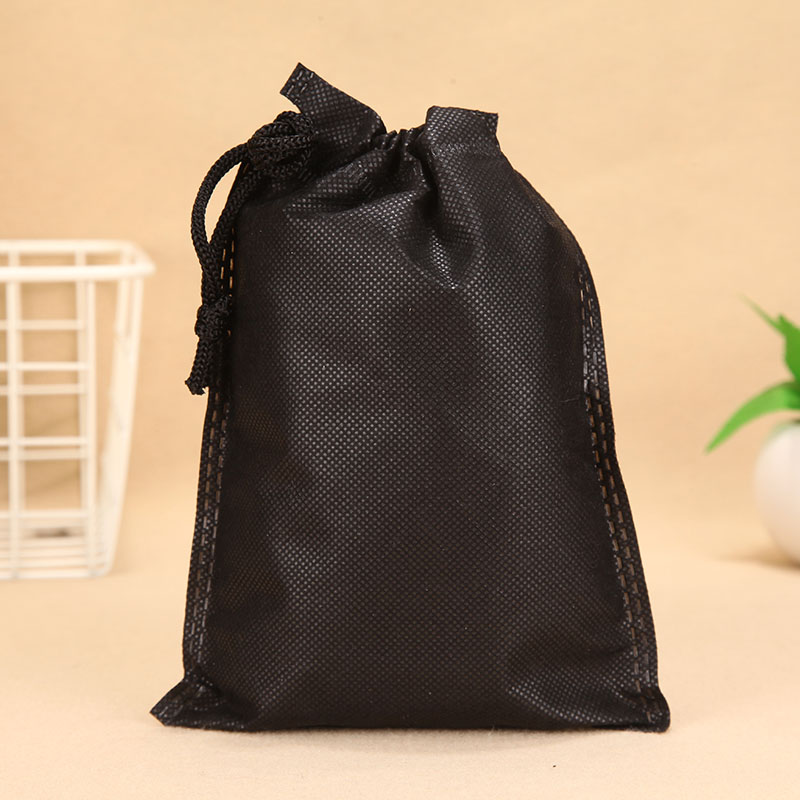White And  Black  70gsm Non Woven Fabric Eco Drawstring String Bag  Newly Arrival