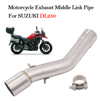 Slip on For SUZUKI DL250 Motorcycle Exhaust Muffler Modified Escape Mid connection Stainless Steel Middle Link Pipe
