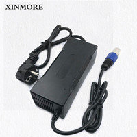 XINMORE Charger 42V 3A Scooter Lithium Li ion Battery Charger Bike AC DC 36V 3A for Switch Bicycle Electric Tool XLB Plug