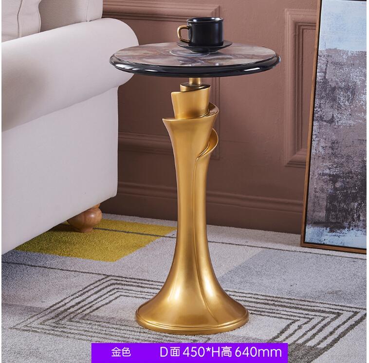 Coins latéraux de salon nordique quelques formes simples moderne ronde créative en marbre lumière de luxe mobile canapé petite table
