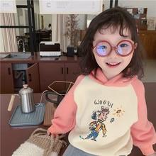цена на XINI MOMMY 2020 Spring Autumn Cartoon printed raglan sleeve hit color sweatshirt  long sleeve shirt  boys tops  girls tops Y107