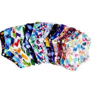 Image 5 - Free shipping organic bamboo inner washable reusable Feminine Hygiene menstrual pads sanitary pads lady cloth pad panty liner1pc