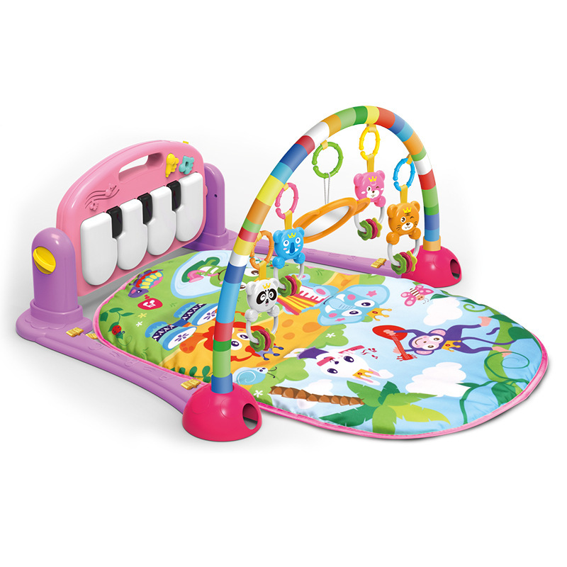 Infants Pedal Piano Multi-functional Music Fitness Rack 0-1-Year-Old Baby Toy Crawl Pad Early Education Game Blanket