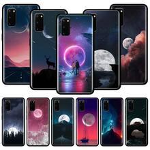 Kawaii Sky Moon Light Silicone Phone Case For Samsung Galaxy S10 S10e S10 Lite S20 Ultra 5G S8 S9 S20 Plus S7 Edge Cover Couqe tv riverdale jughead jones silicone case for samsung galaxy s20 ultra 5g s10 s10e s9 s8 s7 s10 s9 s8 plus s7 edge phone cover