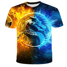 Mortal Kombat 3D Printed T-Shirt Fashion Fight Game Streetwear Boys Athletic Casual T-Shirt Hip Hop Clothing Kids T-Shirt Top