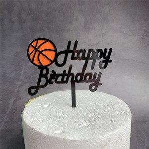 Image 3 - イン新しいバスケットボールアクリルケーキトッパーのための創造的な誕生日ケーキトッパー誕生日スポーツパーティーのケーキの装飾