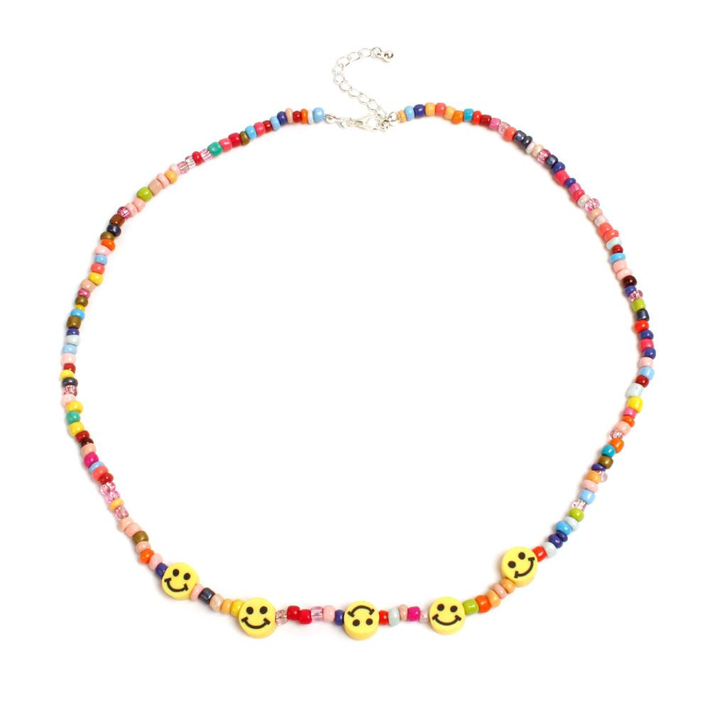 Fashion New Men and Women with the Same Street Hip Hop Smily Couple Wild Necklaces hot sale