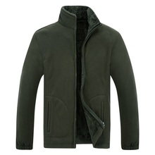 Mens Winter Demi season Jacket Soft  Fleece Warm 2020 Autumn Windproof Thick Thermal Men Windbreaker Black Coats Bomber Male