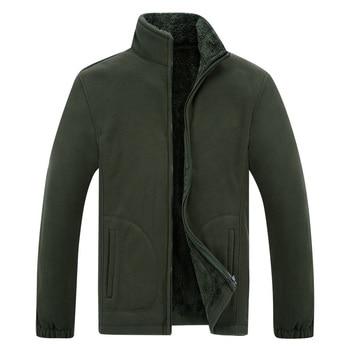 Men's Winter Demi-season Jacket Soft  Fleece Warm 2020 Autumn Windproof Thick Thermal Men Windbreaker Black Coats Bomber Male - discount item  44% OFF Coats & Jackets
