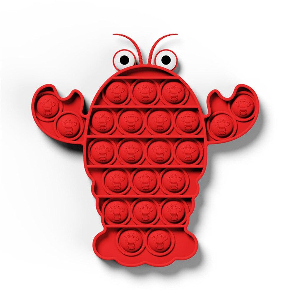 Fidget-Toys Unicorn Dinosaur Figet Push Bubble Anti-Stress Simple Dimple Sensory-Toy img5