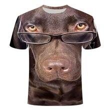 Camiseta de Manga corta para hombre y mujer, prenda de vestir, con diseño de perro en 3D, nueva XXS-6XL, 2020