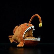 Original macio realista lanterna peixe brinquedo de pelúcia simulação monkfish bonito lophiiformes oceano animal boneca presente aniversário para crianças
