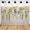 Yeele Wedding Photocall Flower Marriage Birthday Valentine's Day Backdrop Castle Photography Background Photo Studio Photophone