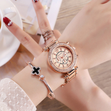 Women Watch Luxury Brand Watches Fashion Rose Gold Steel Ladies Quartz Clock Rhinestone Diamond Female Wristwatch reloj mujer