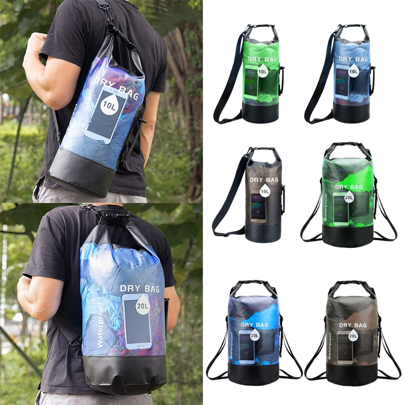 10/20L Waterproof Dry Bag Pack Swimming River Kayaking Floating Backpack Handbag 77HC