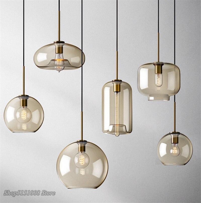 Nordic Glass Pendant Light Modern living room Kitchen Hanging Lamps Lighting Fixtures LED Lamp Home Decor Suspension Luminaire|Pendant Lights| |  - title=