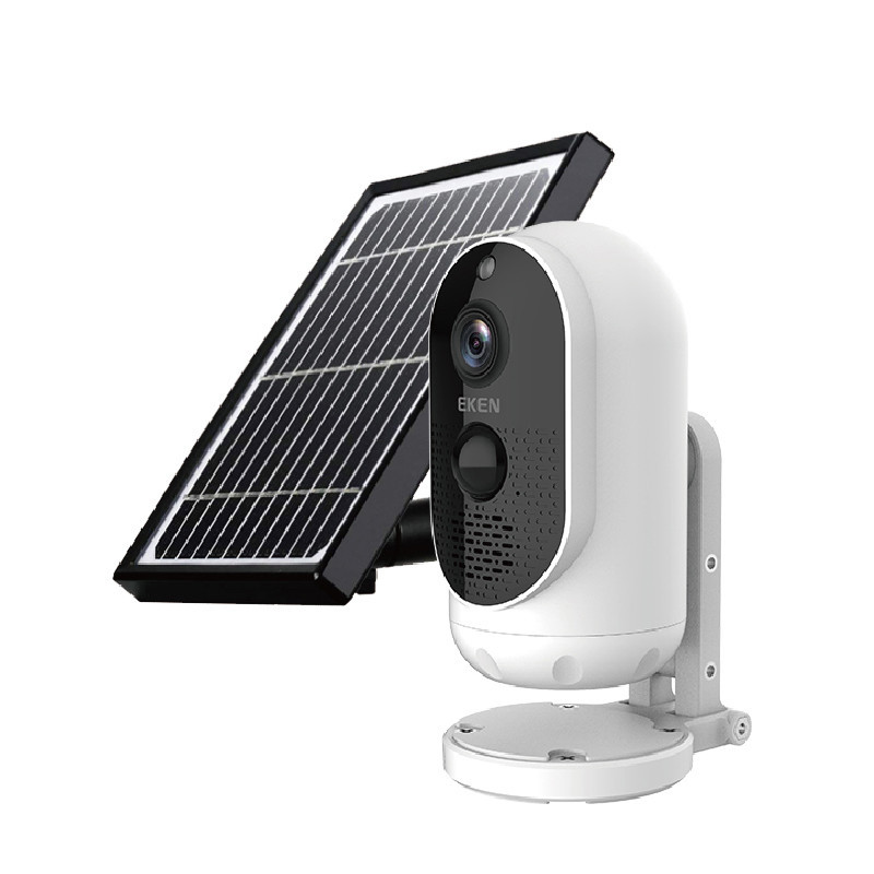 QZT Outdoor Solar Security Camera WIFI 140° Angle Outdoor CCTV Camera Video Surveillance Rechargable Wireless 2MP IP Camera WIFI