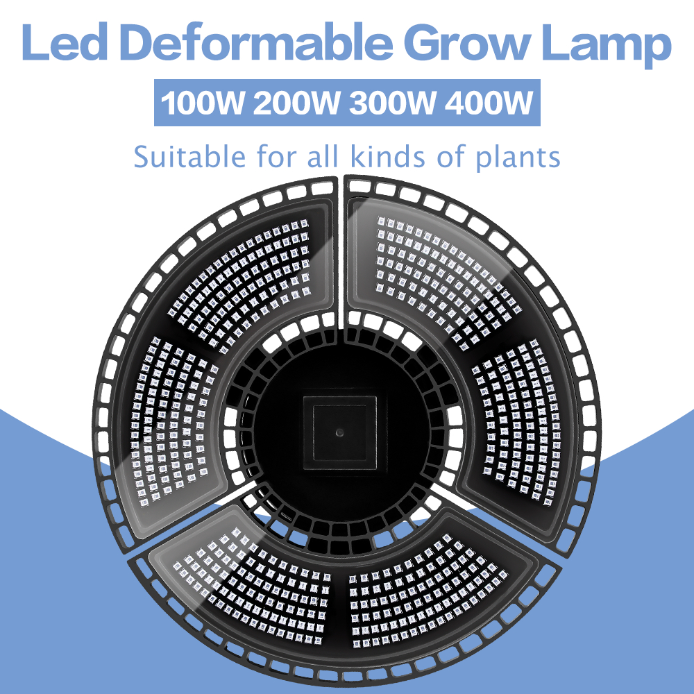Full Spectrum LED Grow Light 100W 200W 300W 400W E27 LED Growing Lights Hydroponic LED Plant Lamp E26 Flower Seed Phyto Lamp